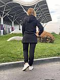 Жіночий брендовий спортивний костюм (Туреччина); розм S M L XL, тканина двунитка, колір чорний., фото 4