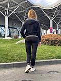 Женский брендовый спортивный костюм (Турция); разм S M L XL, ткань двунитка, цвет черный., фото 3