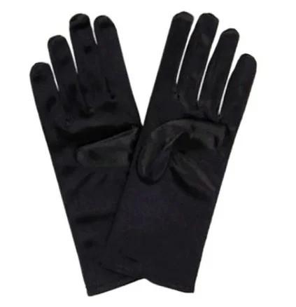 Перчатки черные короткие вечерние