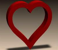 Сердце декоративное, с2