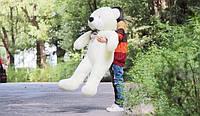 Большой плюшевый мишка молочного цвета 140 см