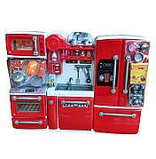 Меблі для барбі - кухня для будиночка Барбі зі світлом і звуком, всі дверцята шафок відкриваються розмір 29*38 см