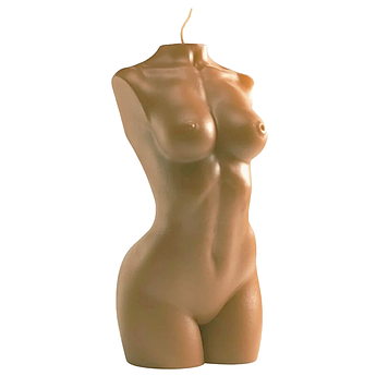 Свічка жіночий торс коричнева Besensua grand femme au chocolat 13 см