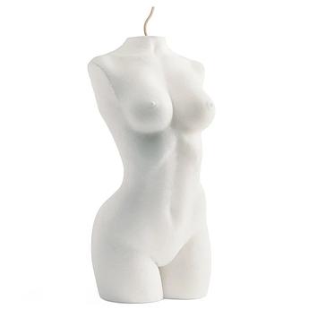 Свічка жіночий торс біла Besensua grand femme blanc 13 см