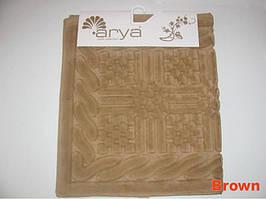 Коврик для ванной 70Х120 Arya Berceste коричневый AR39
