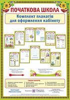 Комплект плакатів для оформлення кабінету початкових класів.