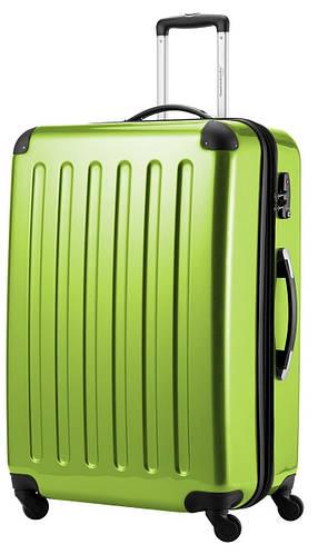 Пластиковый яркий дорожный чемодан-гигант 4-колесный 130 л. HAUPTSTADTKOFFER alex maxi apple салатовый