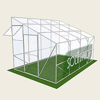 Односкатная теплица 2.5х12м Solidprof, толщина поликарбоната 4мм