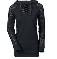 Стильный женский блузон с гипюром