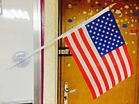 Флаг США, флаг на присоске в автомобиль, прапор США