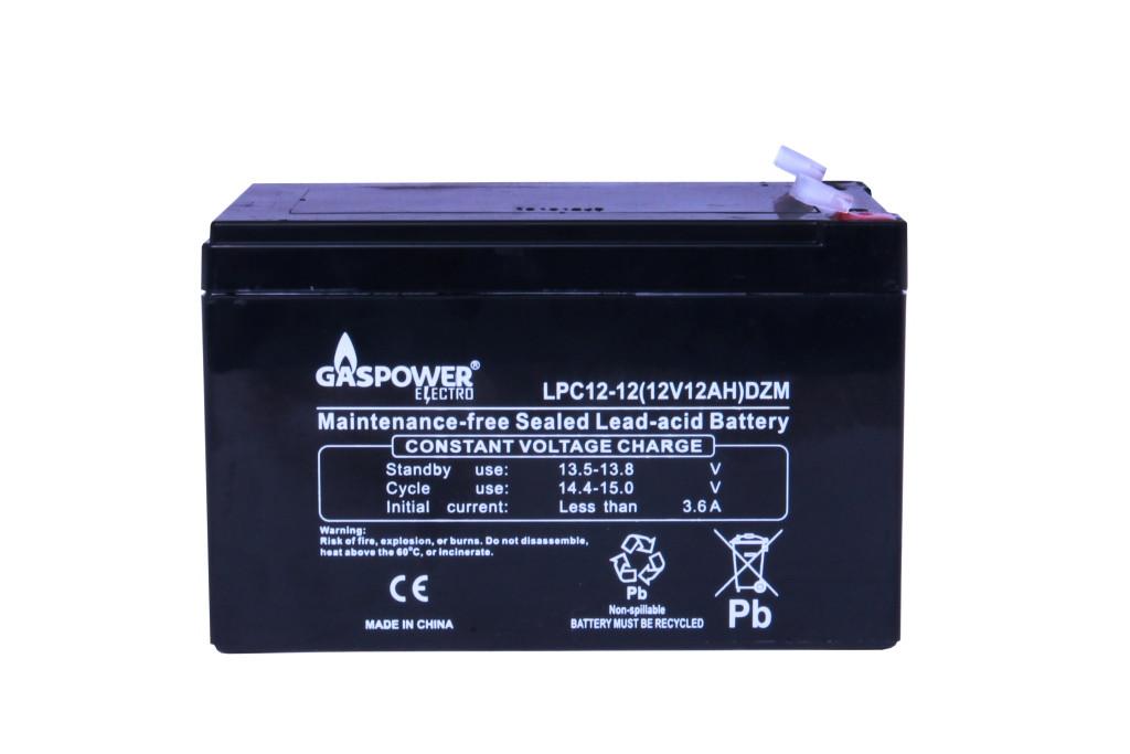 Cвинцово-кислотный аккумулятор Gaspower Electro LPC 12-12 (12 Ah, 12 В, 260 циклов)