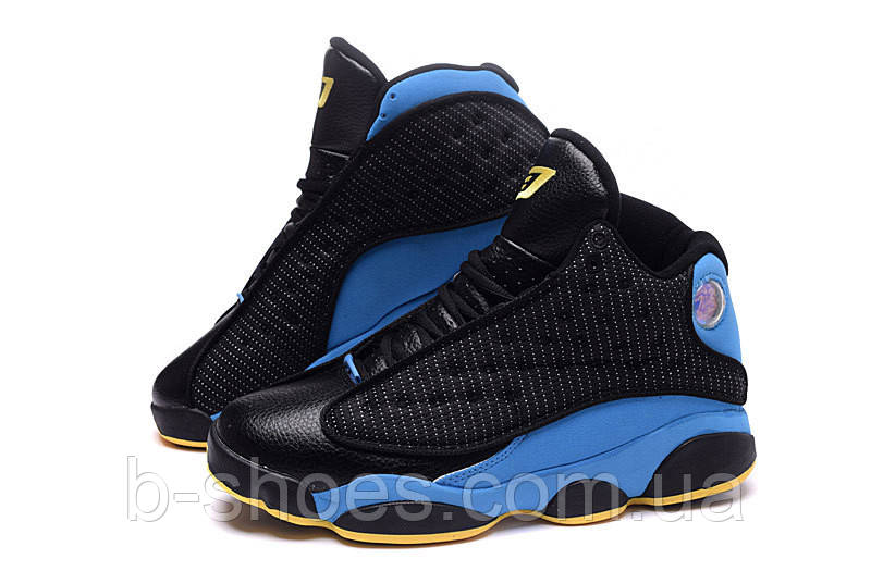Мужские кроссовки Air Jordan Retro 13 СP3 Chris Paul (Black/Blue)