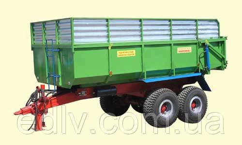 Тракторный прицеп ТСП-14 к тракторам МТЗ-82, грузоподъемностью 10,5 т и объемом 10-17 м3