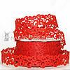 Ажурная лента, 2 см, красная
