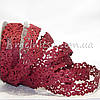 Ажурная лента, 2 см, бордовая