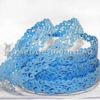 Ажурная лента, 2 см, голубая