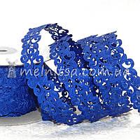 Ажурная лента, 2 см, цвет синий