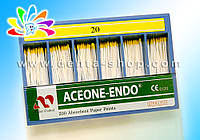 ACEONE-ENDO — Штифты абсорбирующие бумажные, стандартные, № 20