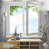Двухчастное окно Rehau 60 и Rehau 70