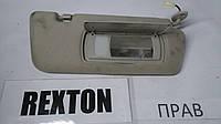 Козырек солнцезащитный правый Rexton II