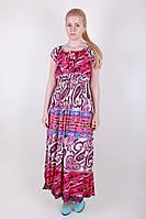 Батистовое длинное платье в расцветках