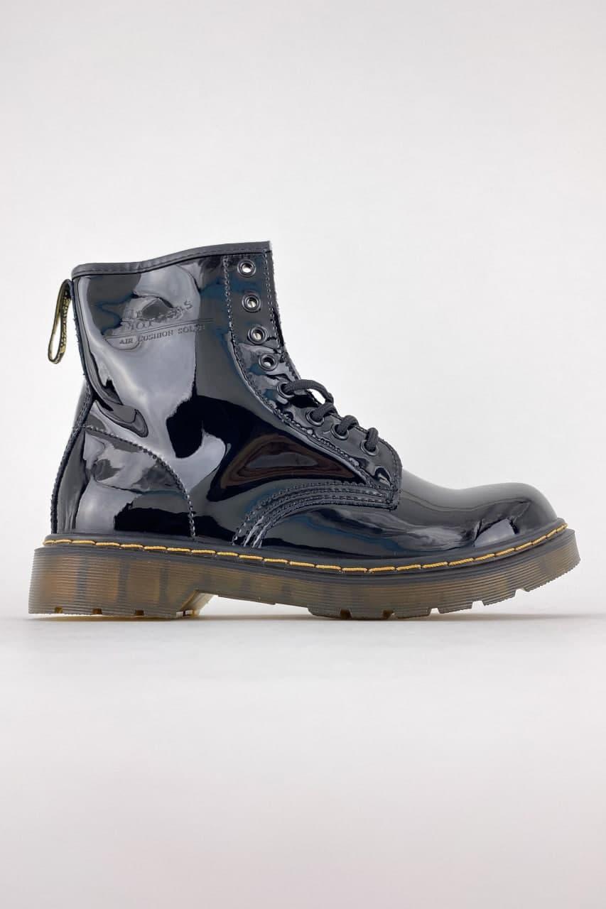 Жіночі черевики Dr Martens 1460 Gloss Black (Чорний) C-2263 демісезонна лакова якісна взуття