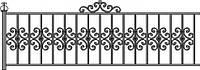 Забор кованый для клумб