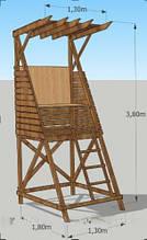 Вышка спасателя деревянная модель Малибу