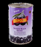 """Маслины """"Coopoliva"""" черные без косточки  4300 мл"""