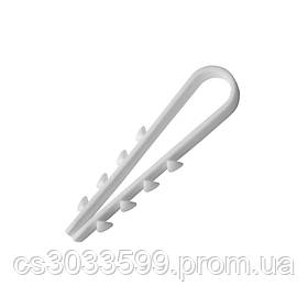 Затискач ялинка 6 mm для цілий.каб (100 шт) НЕЙЛОН