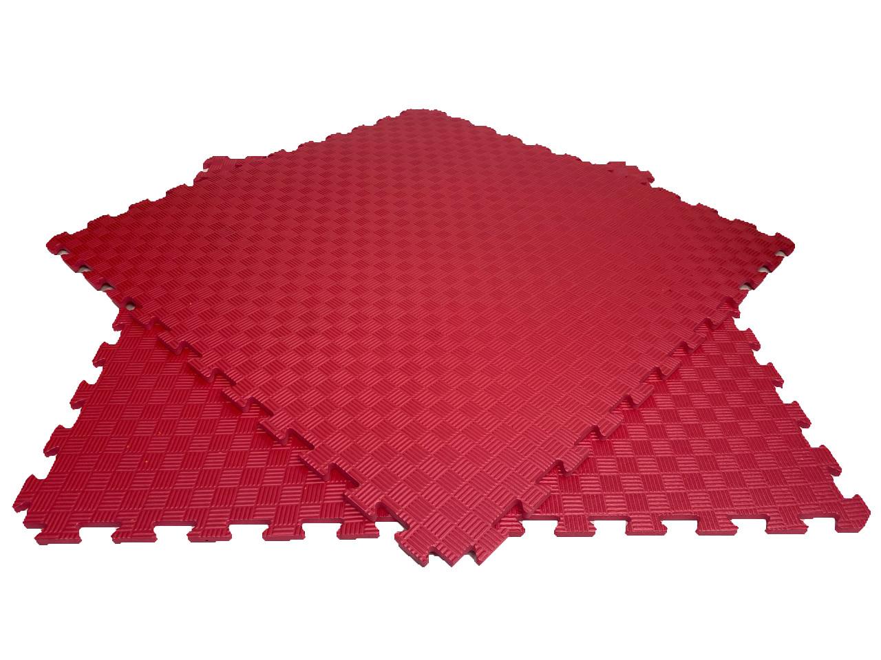 Мягкий пол пазл 100*100*1,2см  красный