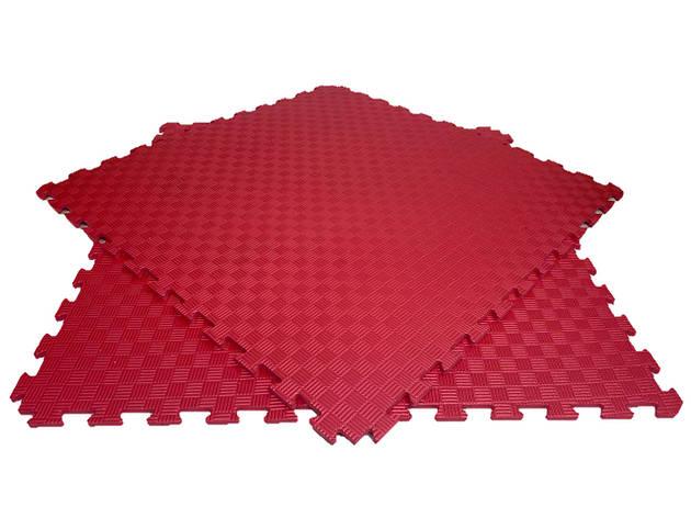 Мягкий пол пазл 100*100*1,2см  красный, фото 2