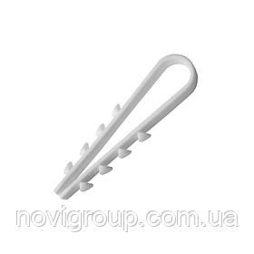 Затискач ялинка 8 mm для цілий.каб (100 шт) НЕЙЛОН