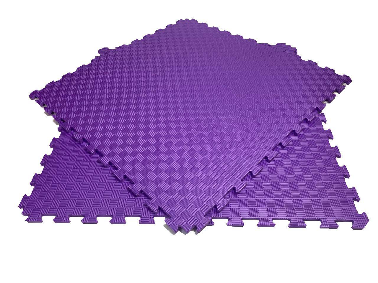 Мягкий пол пазл 100*100*1,2см фиолетовый