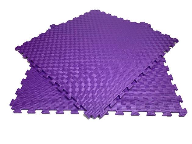 Мягкий пол пазл 100*100*1,2см фиолетовый, фото 2