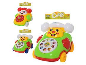 Заводна іграшка машинка-телефон 10,5 див., звук, кул. 16,5х19х8см. 28018-2 (210)