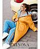 Тепла двостороння куртка з накладними кишенями в забарвлення горох з одного боку з 50 по 68 розмір, фото 4