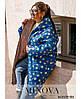 Тепла двостороння куртка з накладними кишенями в забарвлення горох з одного боку з 50 по 68 розмір, фото 5