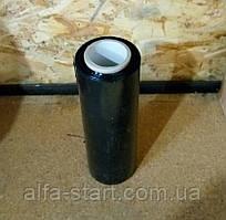 Упаковочная чёрная стрейч плёнка 1кг ширина 25см