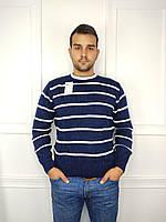"""Джемпер мужской стильный, батал в полоску, размеры 2XL-4XL (цв микс) """"FIESTA"""" недорого от прямого поставщика"""
