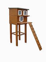 Домик для котиков двух этажный 50х50 см (утепленный)