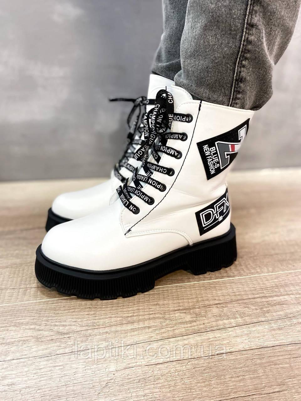 Білосніжні зимові чобітки для дівчаток Тому.м