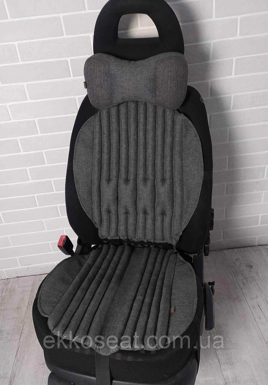 Чехлы для сидений автомобиля, ортопедические с эффектом овчины EKKOSEAT. Черные, Серые, Беж. Универсальные.
