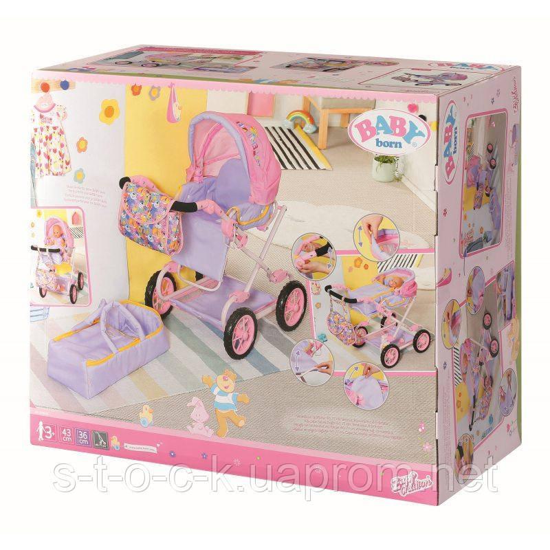 BABY Born - Коляска для кукол Deluxe 3in1 с сумкой и переноской 828649
