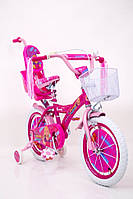 Детский двухколесный велосипед для девочки BARBIE от 5 лет на 16 дюймов