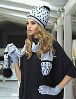Шикарный необычный комплект (шапка+шарф) от Kamea - Ewelina
