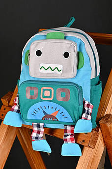 Рюкзак дитячий зелено -сірий АDS 135709M
