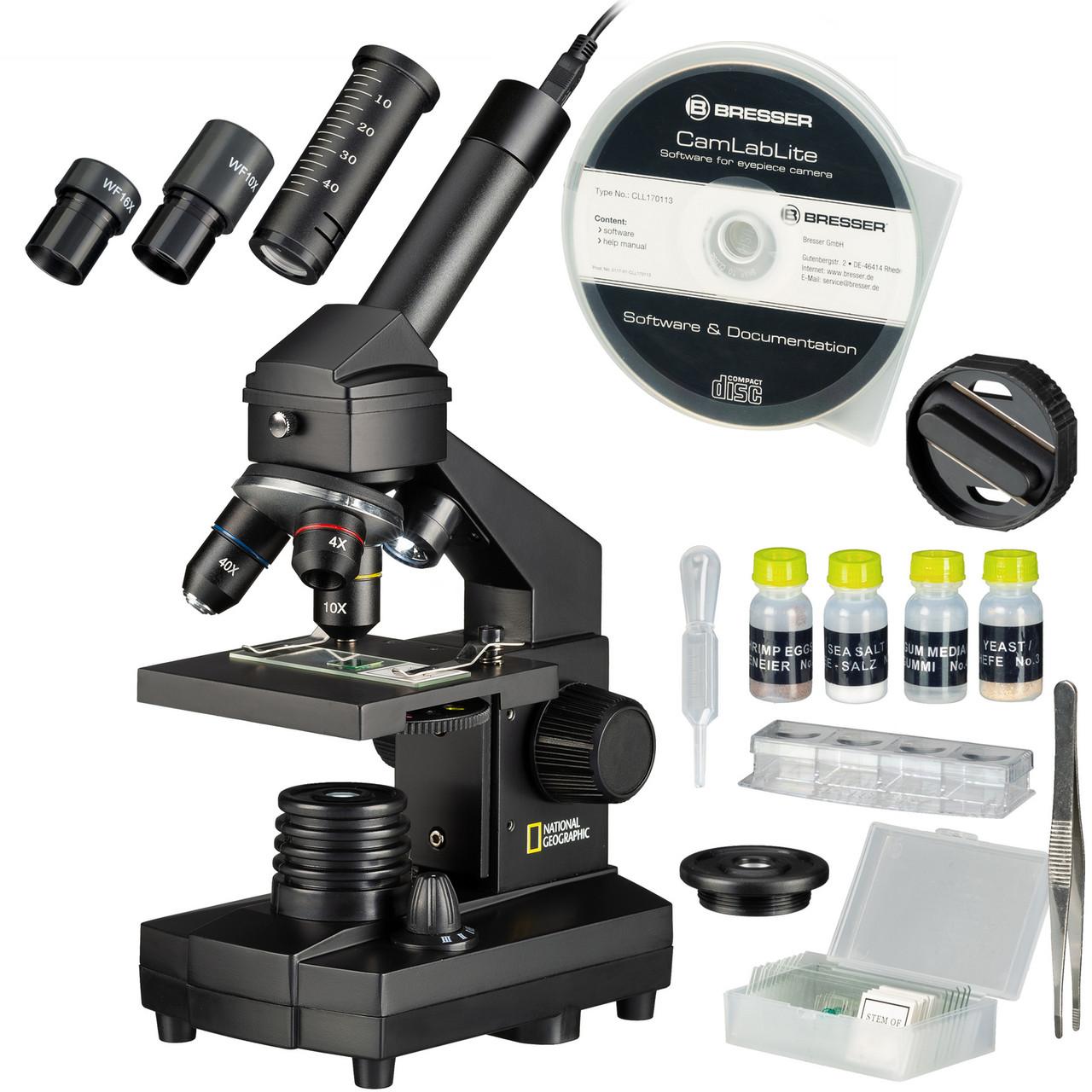 Микроскоп National Geographic 40x-1024x USB с кейсом (9039100)