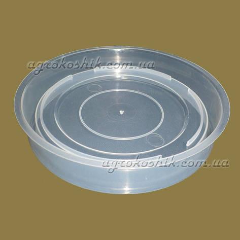 Поддончик прозрачный для вазона  D 15см, фото 2