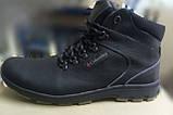 Мужские зимние кожаные ботинки большого размера качественные и удобные, фото 3